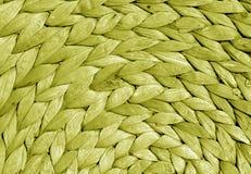 Texture ronde de tapis de paille de couleur jaune Photographie stock libre de droits