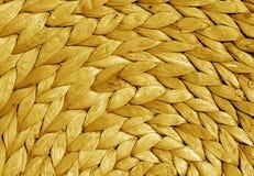 Texture ronde de tapis de paille de couleur orange Images libres de droits