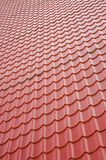 Texture, roof covered by tiles Stock Photos