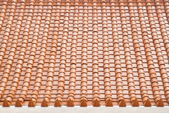Texture of roof, texture of brown rooftop in temple Royalty Free Stock Photography