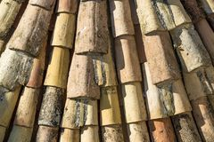 Texture of roof tiles Royalty Free Stock Photos