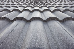 Texture of roof tiles. Royalty Free Stock Image