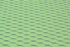 Texture - roofing material. Texture - roofing materiál (green canadien shingle Stock Photo