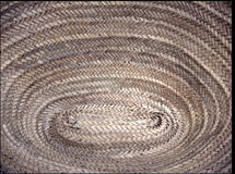Texture of rope basket Royalty Free Stock Photo