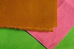 Texture rose, brune, verte de toile Photos libres de droits