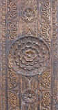 Texture rose de mandala en bois Photo stock