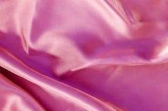 Texture rose de tissu en soie Photographie stock libre de droits