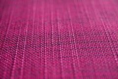Texture rose de tissu Fond rose de tissu Fermez-vous vers le haut de la vue de la texture et du fond roses de tissu Image libre de droits