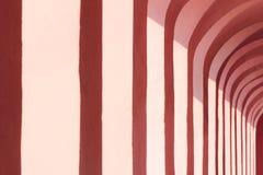 Texture rose de vieilles colonnes liguriennes photo libre de droits