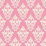 Texture rose et blanche dans le style royal de vintage Image stock