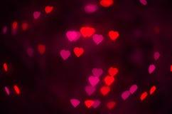 Texture rose et rouge de coeurs Photographie stock libre de droits