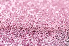 Texture of rose gold glitter as background stock photography