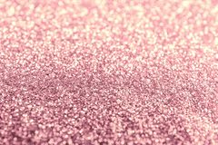 Texture of rose gold glitter fabric as background, closeup. Texture of rose gold glitter fabric as background royalty free stock images