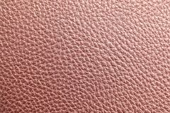 Texture of rose gold leather. As background royalty free stock photos