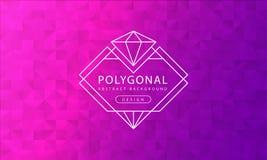 Texture rose pourpre polygonale de fond de résumé, donnée une consistance rugueuse rose pourpre, milieux de polygone de bannière, illustration de vecteur