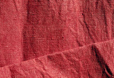 Texture rouge abstraite de toile Images stock