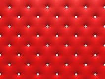 Texture rouge boutonnée Image stock