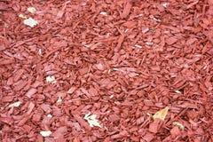 Texture rouge de déchets de bois Image stock