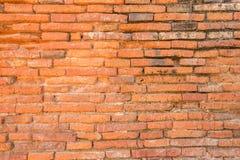 Texture rouge de mur de briques de cru Photo libre de droits