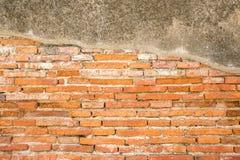 Texture rouge de mur de briques de cru Images stock