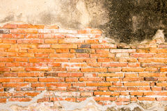 Texture rouge de mur de briques de cru Images libres de droits
