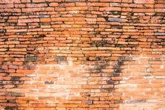 Texture rouge de mur de briques de cru Photos libres de droits