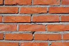 Texture rouge de mur de briques. Image stock