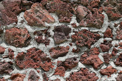 Texture rouge de mur de roche Images libres de droits