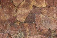 Texture rouge de mur de roche Image stock