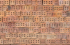Texture rouge de mur en pierre Photographie stock libre de droits