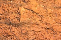 Texture rouge de roche Photographie stock