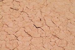Texture rouge de sol sec de désert Images stock