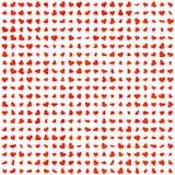 Texture rouge de symboles de coeurs Photo stock