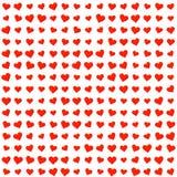 Texture rouge de symboles de coeurs Image libre de droits