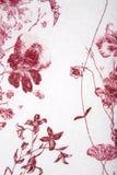 Texture rouge de tissu de fleur de centrales Photos stock