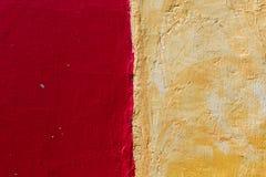 Texture rouge et jaune de mur Photos libres de droits