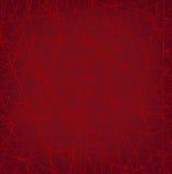 Texture rouge linéaire de réseau avec des points Photo libre de droits