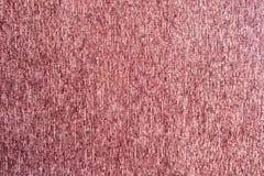 Texture rouge-rose de duvet de tissu de tapis Photos libres de droits