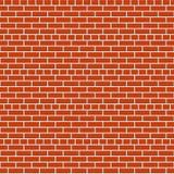 Texture rouge sans joint de mur de briques Images libres de droits