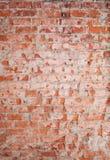 Texture rouge verticale de mur de briques images stock