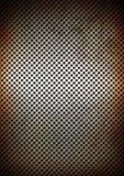 Texture rouillée argentée de fond de grille en métal Images stock