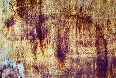 Texture rouillée de Brown et de fer jaune pour le fond Photos libres de droits
