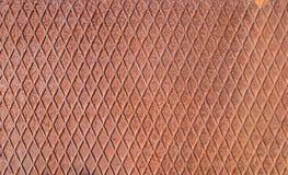 Texture rouillée de fer de damier Images libres de droits