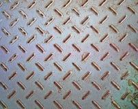 Texture rouillée de plancher en métal Images libres de droits