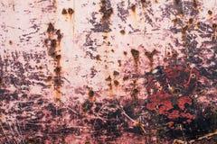 Texture rouillée en métal avec le fond multicolore Image stock