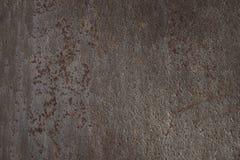 Texture rouillée en métal fond vigoureux d'armure de brun foncé, pour 3D Images libres de droits