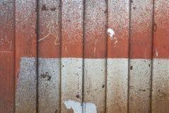 Texture rouillée en métal Tache, fer rouge et blanc de surface photo stock