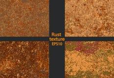 Texture rouillée réglée de corrosion, imitation de rouille illustration stock
