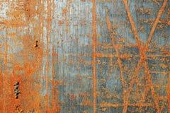 Texture rouillée rayée en métal photographie stock