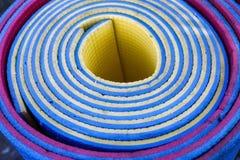 Texture roulée colorée de caremat Macro Image libre de droits